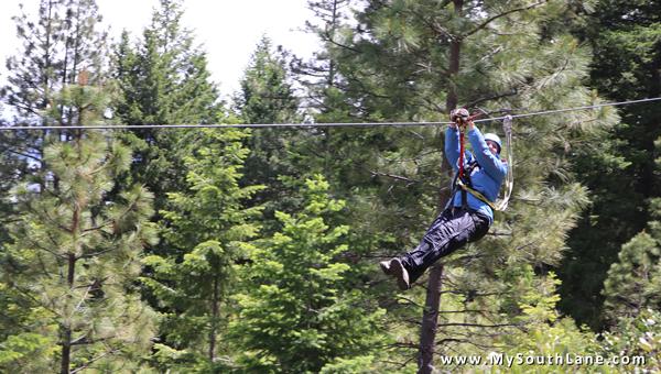 Ziplining at Crater Lake Zipline