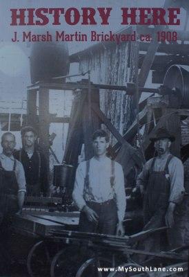 J. Marsh Martin Brickyard, History Here poster in Eugene